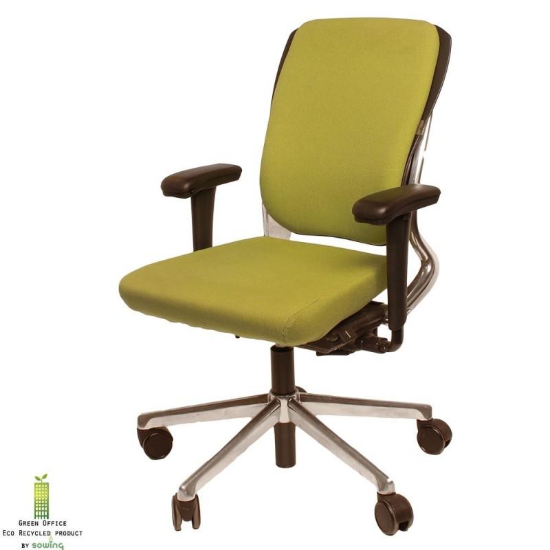 Ahrend 230 bureaustoel chroom met groen