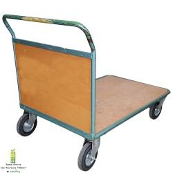 Platformwagen,  plateauwagen, magazijnkar met duwbeugel