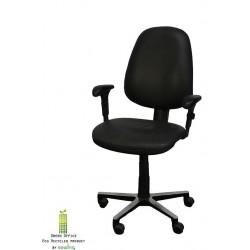 Bureaustoel Ignotus Design zwart armleuningen